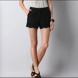 NWT LOFT Riviera Scalloped Shorts
